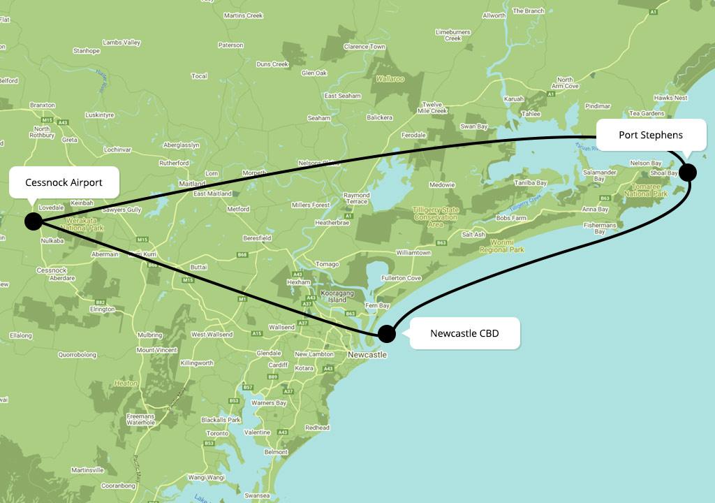 Scenic Flights over Port Stephens