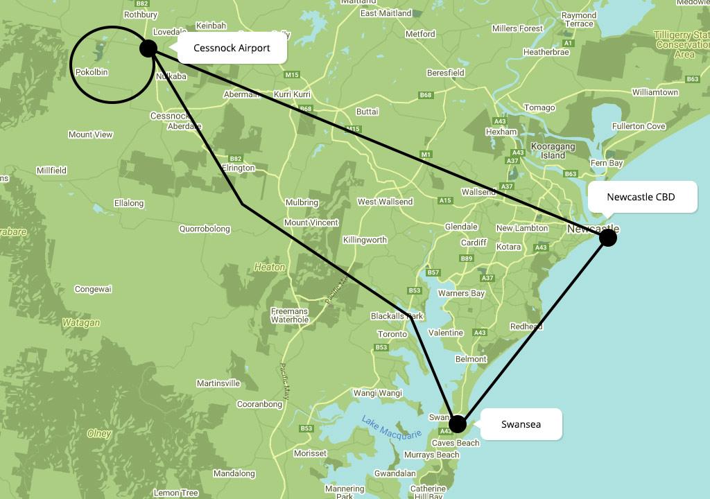 Scenic Flights over Lake Macquarie